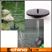 Wholesale Black Floating Solar Panel Power Pool Water Pump Fountain Kit for Garden Pond CM L H Long Life Tme