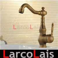 Wholesale Antique Brass Finish Water Tap Kitchen Mixer Tap Sink Tap Bathroom basin Faucet mixer tap