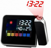 Digital Alarm Clocks ALARM0001 Digital Display Weather Station Projection Clock Humidity Temperature Thermometer Calendar Alarm LCD Display Desktop Clocks LED Backlight