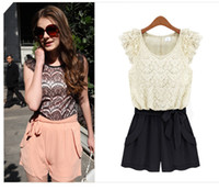 overalls - NEW Fashion Women Lace Cocktail Party Evening Jumpsuit Overall Shorts S M L XL