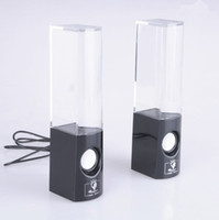 2.1 Universal Computer Dancing Water Speaker Colorful a pair led usb Music Fountain Speaker Soundbox Boombox for MP3  Mobile Phones  Computer Black White