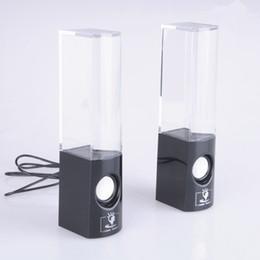 Dancing Water Speaker Colorido un par llevó la fuente de la música del usb Soundbox Boombox para MP3 / los teléfonos móviles / computadora Blanco negro