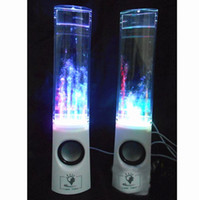 Wholesale Dancing Water Speaker Colorful a pair led usb Music Fountain Speaker Soundbox Boombox for MP3 Mobile Phones Computer