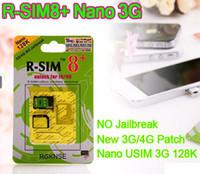 Wholesale R SIM8 R SIM Plus K Nano G Simcards Unlock Card for iphone S G GSM iOS iOS7