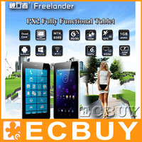 Wholesale Freelander PX2 inch GPS tablet PC MTK8389 Quad Core Tablet PC Inch Android G GPS Monster Phone Bluetooth WCDMA G Phablet G GB ROM