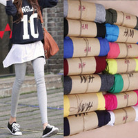 Wholesale 2016 Spring Summer Leggings For Women Candy Color Pants Cotton Elastic Tights