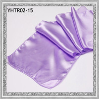 Wholesale 2013 quot x108 quot cmx275cm Satin dining table runners in lavender