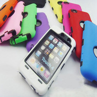 Wholesale Hybrid Rugged Impact robot Case PC Silicone Case Protective Touch Case Cover for Apple iPod Touch4 Touch G