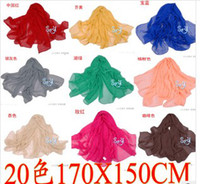 Wholesale Scarf Scarves Candy Colors Silk scarf Shawl New Fashion Women Scarves scarf colors X150CM
