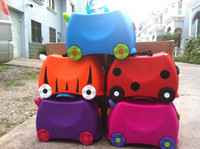 Wholesale Children versatile luggage suitcase baby toy box storage box with color LOGO