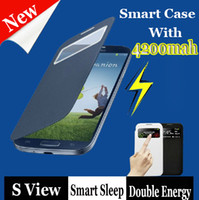 4500mah S View Flip Cover leather case Open Window sleep wak...