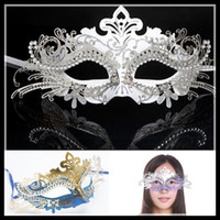 Wholesale 2013 New Arrival Hot Sale Masks good luxury Metal Mask Party Masks Half Face Venice hollow out for Women hot selling in Wedding Ball