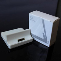 Wholesale White USB Base Dock Stand Station Cradle Charger for iPhone iPad