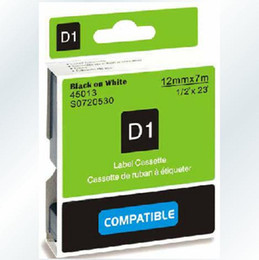 Wholesale Black on White Label Tape Compatible for DYMO D1 X