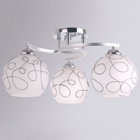 Modern European Style Glass Pendant Lamps 3 Lights Bedroom L...
