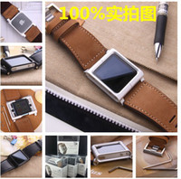 For iPod Nano chicago - New Design Lunatik Chicago Collection Real Leather Multi Touch Watch Band Wrist Strap For Lunatik Chicago Nano6 DHL shipping free