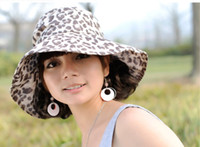 Wholesale Outdoor Brand Cheap Accelero Cap with Leopard Cotton Style Travel Use Lady Sun Hats A8
