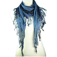 Wholesale Cheap Polyester Knitting Shawl Sexy charm Leopard triangle shawls scarves colors NL