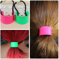 Wholesale Korea exaggerated fluorescence Alloy half moon metal Hair Band ponytail withholding ornaments hair rope headwear