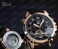 Prezzi Orologi jaragar-LLFA1773 uomini caldi in pelle orologio d'oro numero meccanica immersione mens data automatico orologi sportivi di lusso jaragar