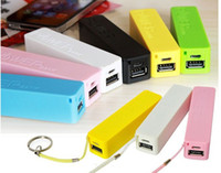 Emergency Chargers General type  Wholesale - Power Bank 2600mah Portable USB Charger Backup External Battery for iPhone 4 5 Galaxy s3 s4 mobile Phone Universal Free Shipp