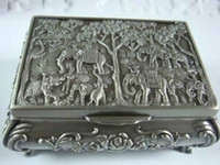 Wholesale Chinese leather Wood carved Dragon Phoenix Book Box