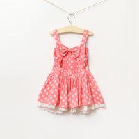 Baby girl kids crochet lace dress flower floral tutu dress c...
