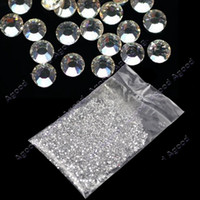 Wholesale 20000pcs mm Clear Round Rhinestones Hard Case Nail Art Tips decoration Acrylic UV Gel