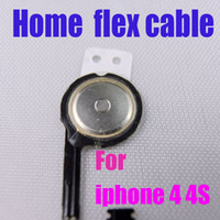 Wholesale Best quality iphone flex cable home button flex cables For iphone s iphone G HKpost epacket