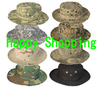 Wholesale Military Army BONNIE HATS Round Sun Bonnet fishing Cap Hat polyester cotton free shiping
