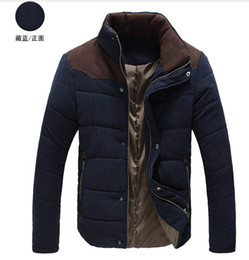 Wholesale New Fashion Men s Winter Warm Coat Casual Slim hit the color stitching simple thickening Jacket Outwear lijunzhillove