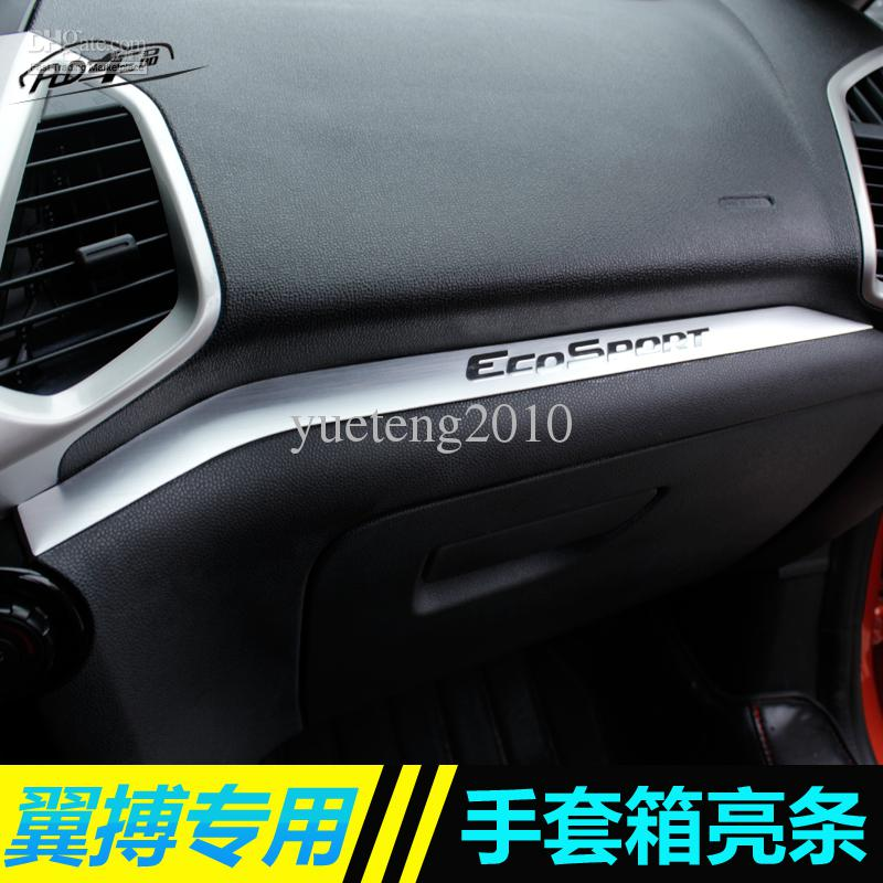 2017 ford ecosport gloves box light bar car interior storage box trim auto strip decoration. Black Bedroom Furniture Sets. Home Design Ideas