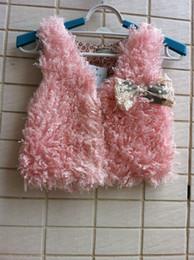 Children's Waistcoat 2019 Autumn Winter khaki pink ivory fashion kids fur coat children waistcoat vest tank tops kids cardigan coat