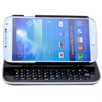 Wholesale Detachable Backlight Wireless Bluetooth Sliding Keyboard Stand Case Hardshell Back Cover For Samsung Galaxy S4 SIV i9500 White Black Hot