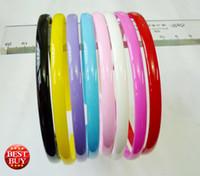plastic headbands - Hot Sale Headbands Cute Girl Candy Color Plastic Headbands Head Accessories Women Hair Jewelry Mix Color FS165