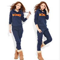 Long Sleeve M/L/XL Fleece  2013 New Fashion Women's Sweat suit Han edition Add thicken Hoodies Add fleece Pullover Hooded Leisure Tracksuits #1274