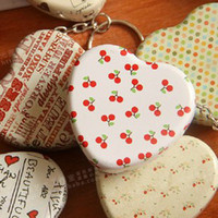 Wholesale Pill box keyring Sundry postcards tin box Relief stereo small tin kit storage candy box type