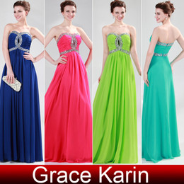 Wholesale 2013 New Cheap Dress Empire Beading Strapless Long Chiffon Party Dresses Evening Gown CL4413