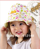 Girl Spring / Autumn Cotton New arrival 100% cotton girls hats double-sided children caps baby bucket hats infant sunbonnet kids topee child beach sunhats