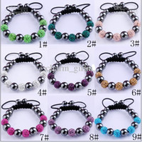 Children's ball magnetite - MM Disco Magnetite Ball Beads Macrame Clay Crystal Bracelet FRIENDSHIP DISCO BALL BRACELETS