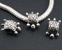 Wholesale Tibetan Silver Cute Tortoise Spacer Beads Fit Charm Snake Chain European Bracelets mm