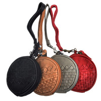 Wholesale Fashion multicolor circle coin purse coin case earphones storage bag genuine leather first layer of cowhide