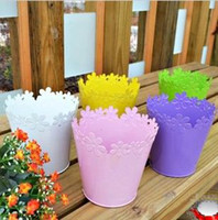 Wholesale Hot Fashion Candy colors Lace Iron Barrel Flower Arrangement Barrel Iron Arts To Collect Barrel