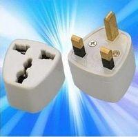 Wholesale plug Universal US AU EU to UK AC Power Plug Travel Adapter