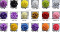 Wholesale 10Pcs quot cm Silk Rose Flowers Balls Kissing Flower Ball Optional Colors Wedding Party Bows MYY5409