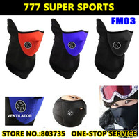 Wholesale Neoprene Neck Warm Half Face Mask Winter Veil For Sport Bike Motorcycle Ski Snowboard FM03 Mix Colors Shipment