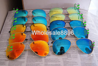accessories metallic glasses - blue lenses sunglasses Men s Women s sunglasses colorful lens and Metallic glasses legs Glass lenses With the case and accessories