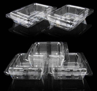 Wholesale Plastic Single Individual Cupcake lunch box Muffin Holders Cases Boxes Cups Pods