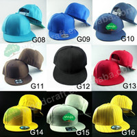 Wholesale Plain Mix Colors Flatbill Snapback Hats Unisex Baseball Caps Men Snapbacks Cap Mens Visor Hip Hop Women Sport Hat Blank