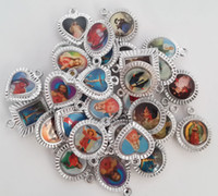 Traditional Charm religious pictures - 30pieces Charm Jesus Holy Saints Christ Christian Religious Catholic Pendant with Picture Virgin Mary